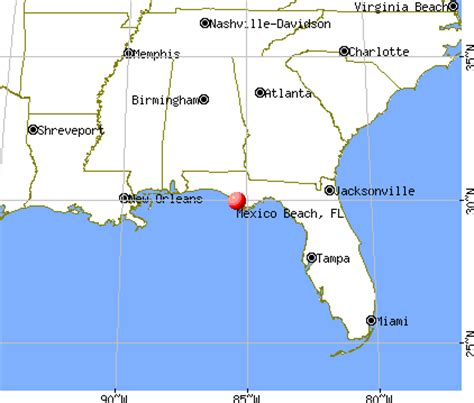 map of mexico florida mexico florida fl 32410 32456 profile