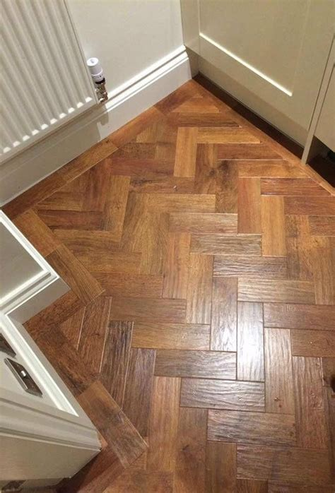 karndean art select colour auburn oak  parquet formation   border woodflooringkitchen