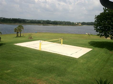 backyard sand court how to construct a court
