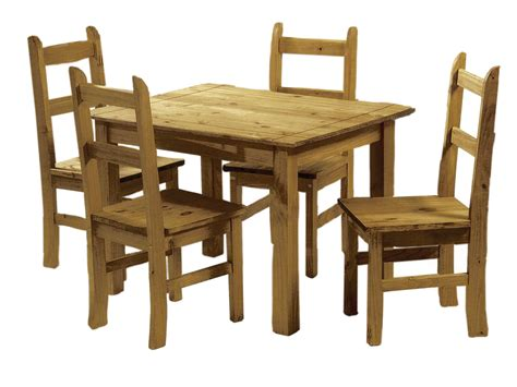 Mexican Pine Dining Table And 4 Chairs Corona Budget Solid Wood Dining Table Chairs