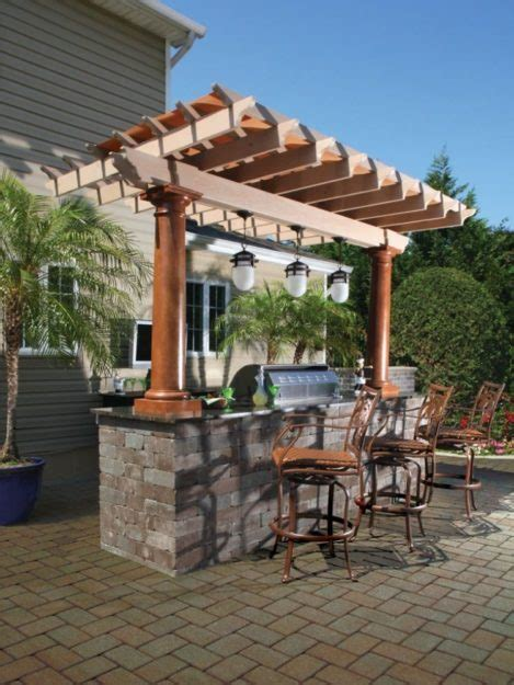 Pergola Kitchen Outdoor by Outdoor Kitchen Designs With Pergolas Presented To Your