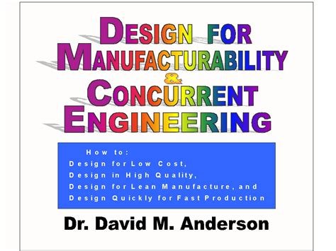 design for manufacturing textbook design for manufacturing concurrent engineering pdf home