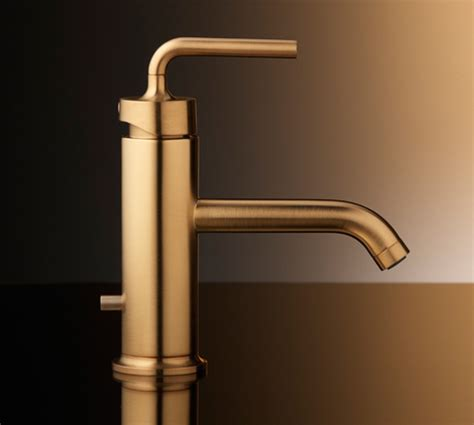 bathrooms with gold fixtures brushed gold bathroom faucets by kohler
