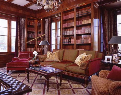 library 2 traditional living room new york by library