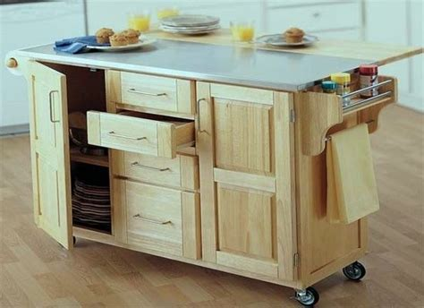Rolling Kitchen Island Drop Leaf   For the Home