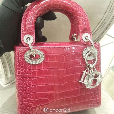 l2kl mini in croc in pink luxury fashion and luxury fashion