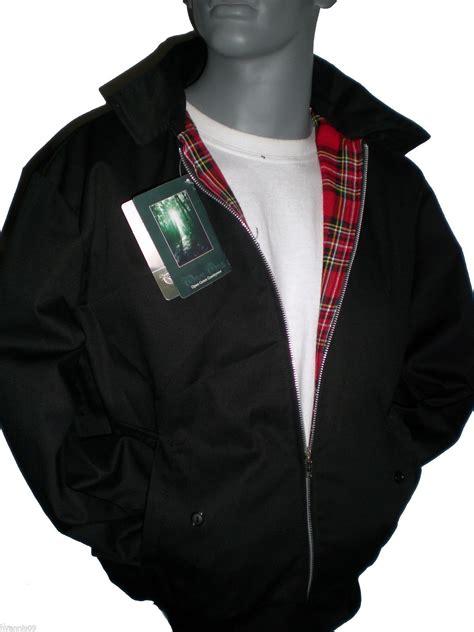 Jaket Bomber Harrington Trasher classic 1970 s harrington bomber jacket coat black beige burgundy green navy