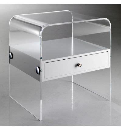comodini plexiglass comodino moderno in plexiglass trasparente almada