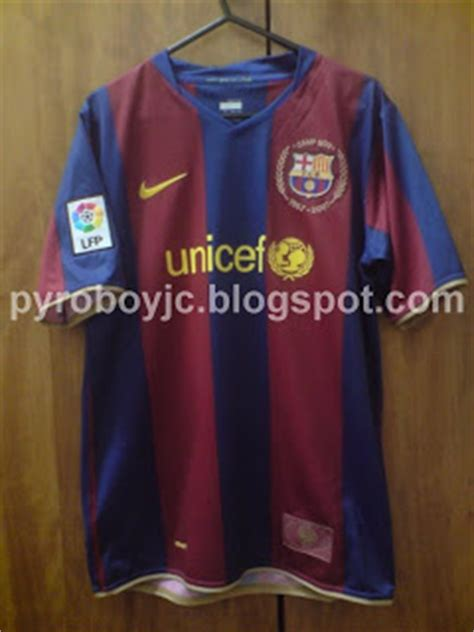 Jersey Jadul Barca 2007 T1310 4 my jersey collection barcelona 2007 2008 home jersey