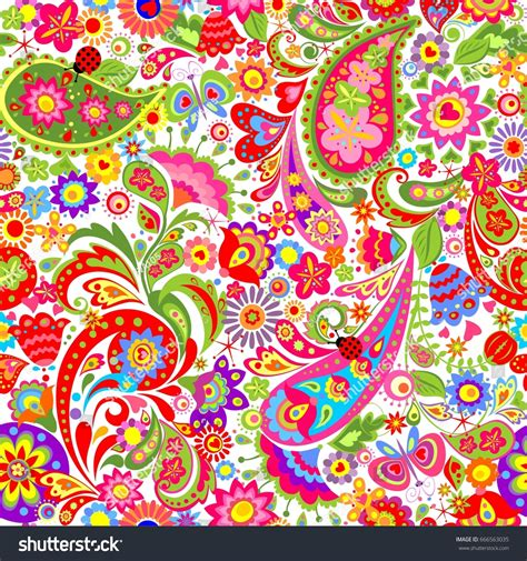colorful ethnic wallpaper decorative wallpaper colorful ethnic flowers paisley stock