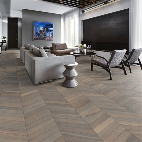 Kährs Chevron Flooring Grey Nature Oiled   Kens Yard