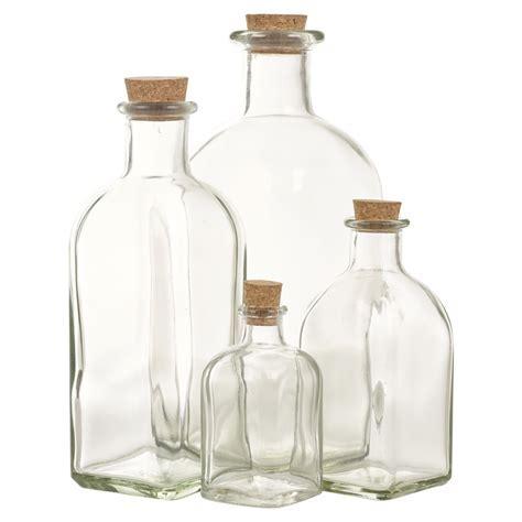 3 6 9 12 Glass Bottle Jars Vials Cork Lid Stopper Kitchen