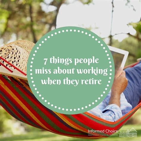 7 Things I Miss About College by 7 Things Miss About Working When They Retire
