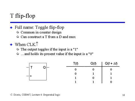 t flip flop table t flip flop