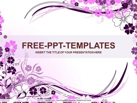 powerpoint templates free download violet wavy purple floral ppt design download free daily