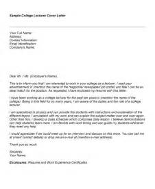 Sle Cover Letter For College Students by College Cover Letter Free Cover Letter