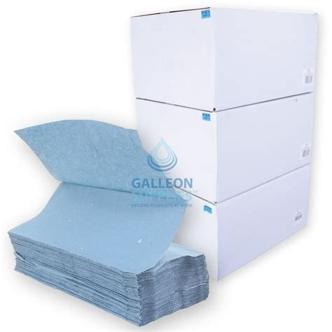 V Fold Paper Towels - galleon 1 ply blue v fold paper towels ready