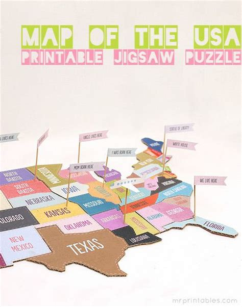 printable us state map puzzle printable map of usa jigsaw puzzle 50 states and