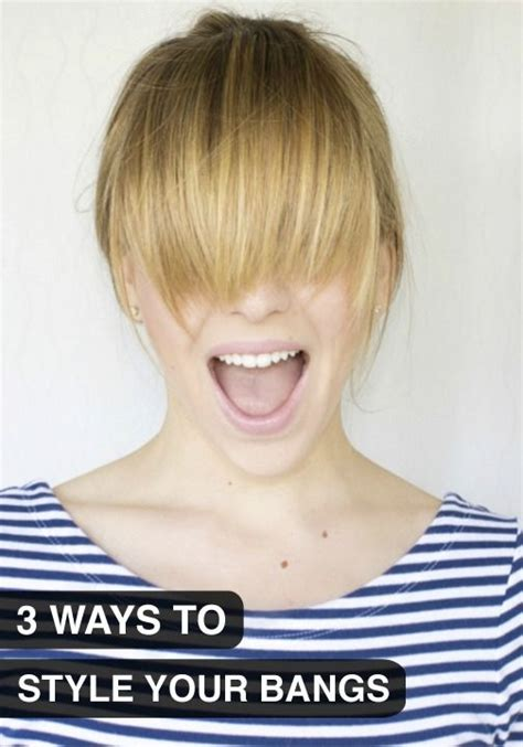are bangs out of style 3 ways to style your bangs when they re in that pesky