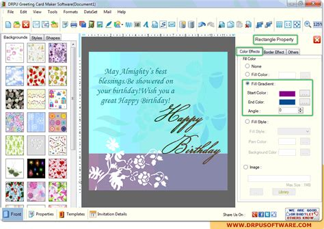 program to make cards screenshots of drpu greeting card maker software to create