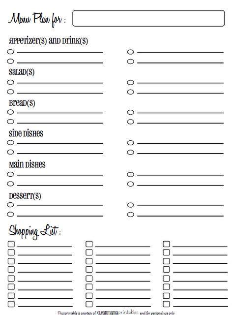 printable holiday meal planner holiday menu planning printable menu planners meals and