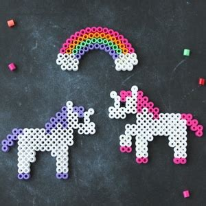unicorn craft perler bead patterns cutesy crafts