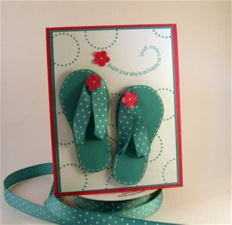 flip flop card template sting up with laurie flip flop template