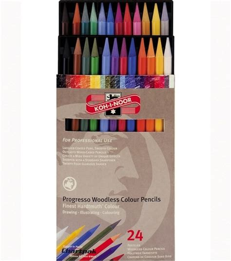 woodless colored pencils progresso woodless colored pencils 24 set jo