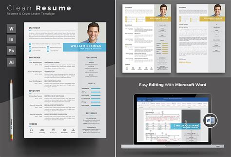 25 Professional Ms Word Resume Templates With Simple Designs For 2019 Microsoft Word Design Templates
