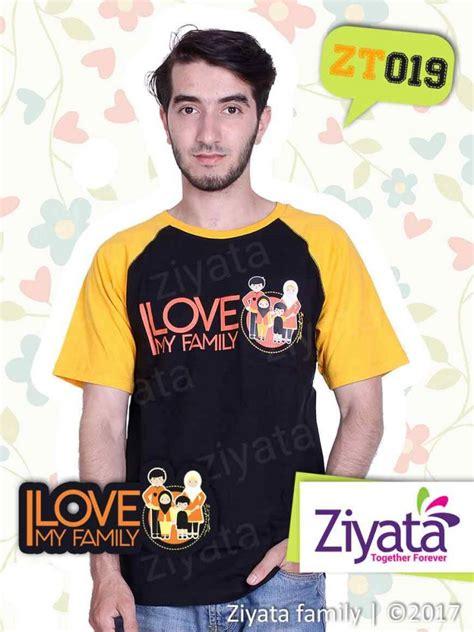 Kaos Karakter Muslim Happy Family kaos karakter ayah ibu anak kaos islami ziyata zt019