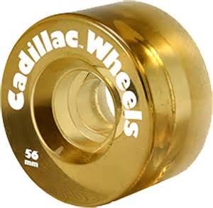 Cadillac Skate Wheels Cadillac Skateboard Wheels 56mm Gold