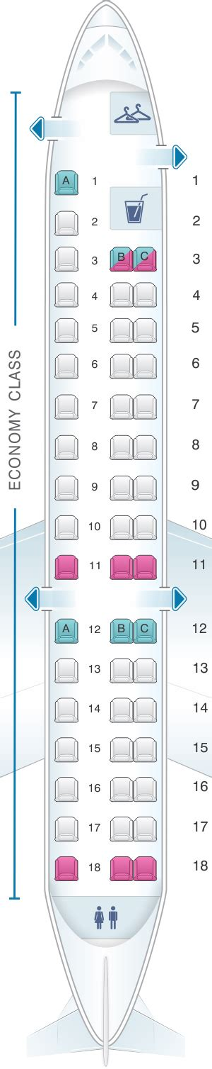 embraer 175 jet seating chart seat map american airlines embraer erj 145 seatmaestro