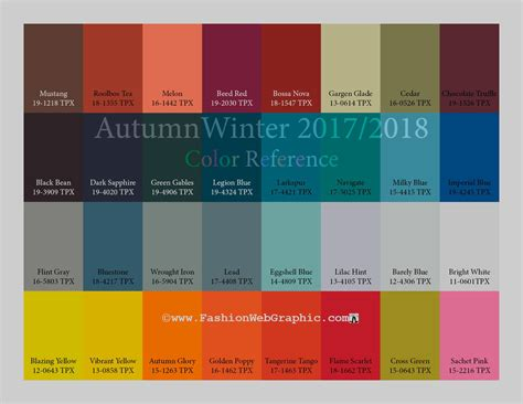 colour trend 2017 autumn winter 2017 2018 trend forecasting is a trend color guide that offer seasonal inspiration