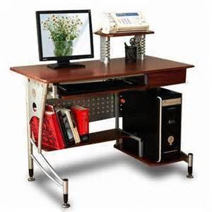 Laptop Desk With Printer Shelf Modern Computer Desk With Cpu Stand Printer Frame Book Shelf