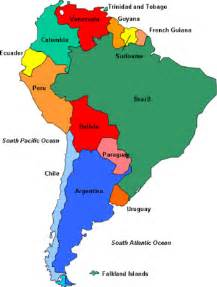 political map of south america free printable maps