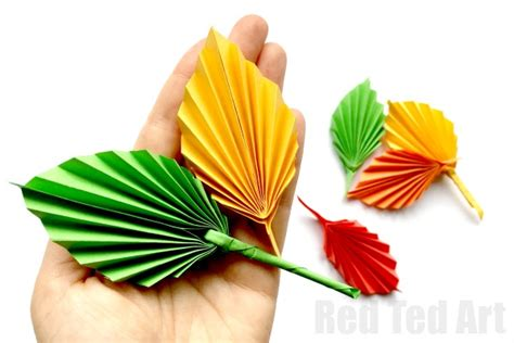 How To Make A Leaf Out Of Paper - easy paper leaf ted s