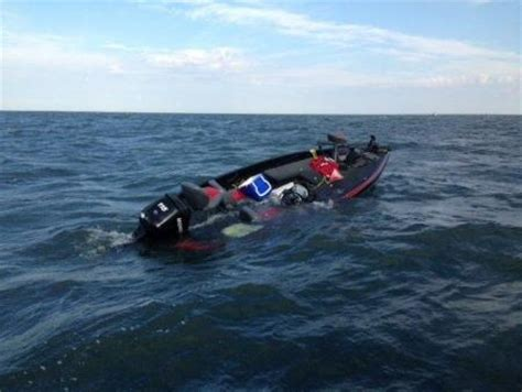 two men rescued from partially sunken boat in lake erie - Sinking Boat On Lake Erie