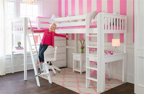 full size bunk beds with desk girls full size loft bed with desk and dresser full size