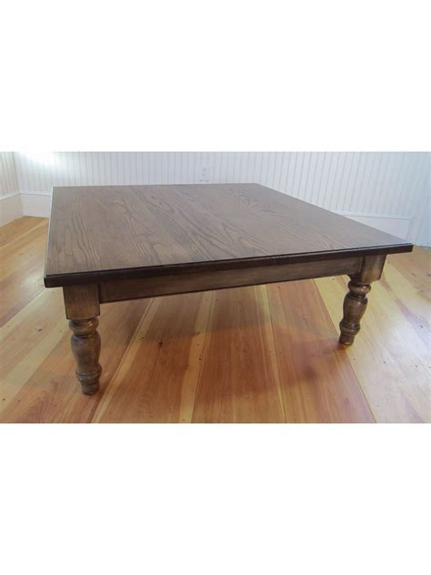 48 X 48 Country Farm Plank Top Coffee Table 401 48 Coffee Table