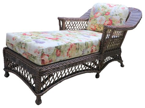 chaise lounge bar bar harbor chaise lounge in brown wash imperial stripe