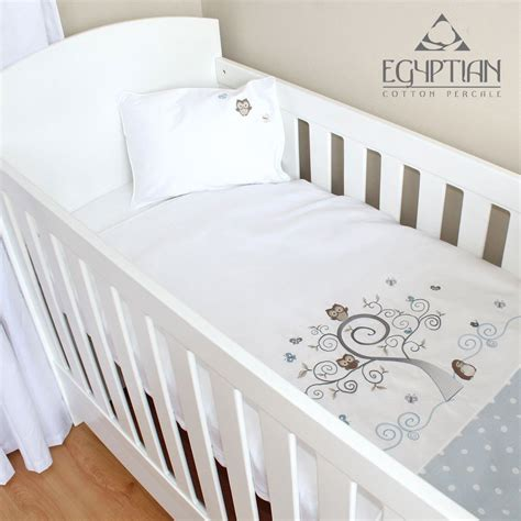 Baby Cot Duvet Cover Sets baby owl cotton baby cot duvet cover set cove