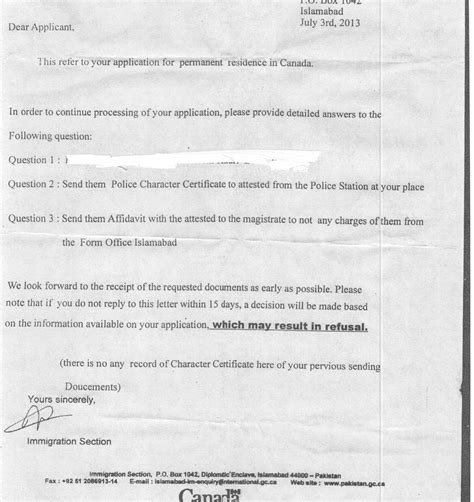 Explanation Letter Pnp Cic Canadian Immigration