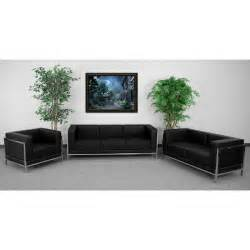 Sofa And Loveseat For Sale Black Reception Lounge Lobby Waiting Room Office Sofa