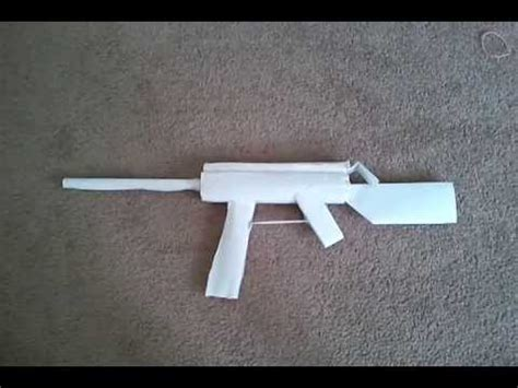 How To Make A Pistol Out Of Paper - auto paper gun that shoots without blowing