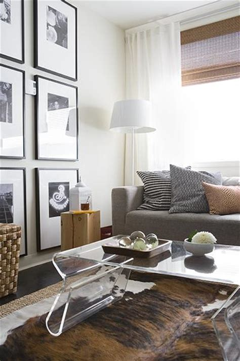 chic shades in the living room modern best living room acrylic coffee table contemporary living room
