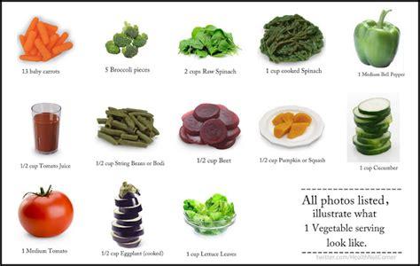 vegetables 1 serving the health nut corner servings galore vegetables