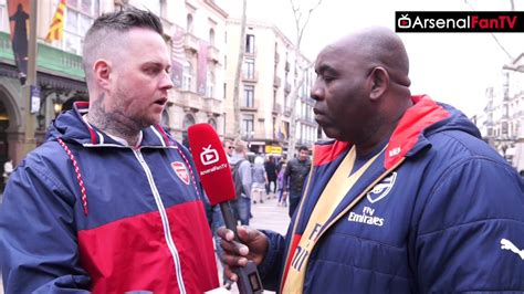 arsenal fan tv i ve brought quot the wenger out quot banner with me says dt
