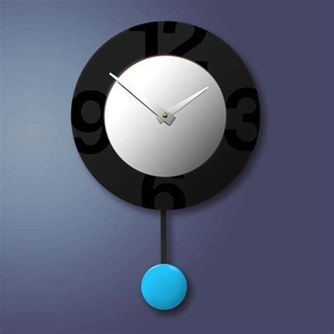 modern pendulum wall clock colourful contemporary clocks collection from pilot design