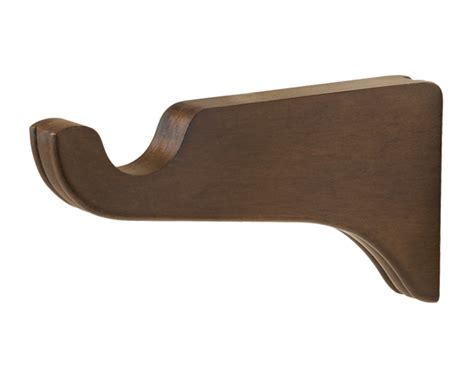 wood drapery brackets kirsch 6 inch return bracket for 1 3 8 inch wood drapery