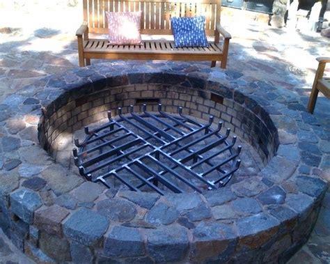 pit custom grate backyard pit